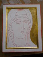 Icon finished gold leaf