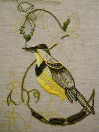 Western meadow lark in progress