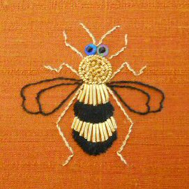 Goldwork bumble bee 2013 small 2