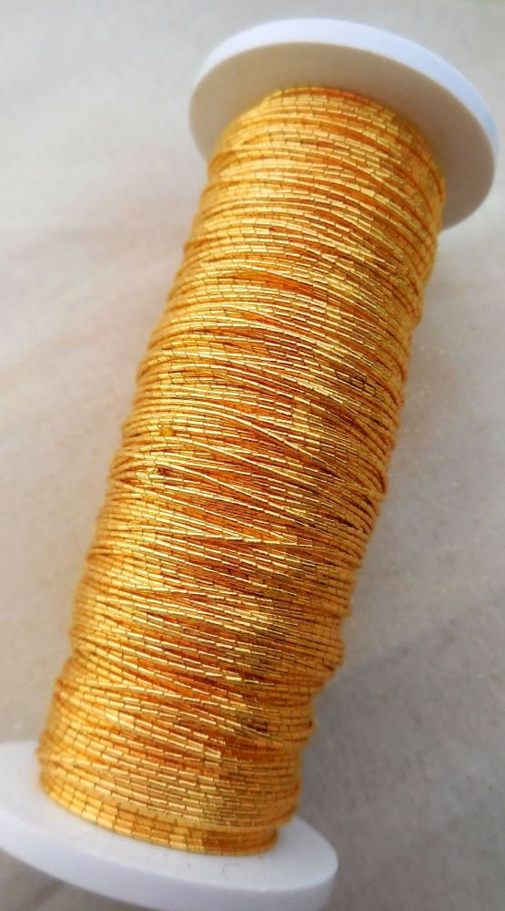 Goldwork Japanese thread No8, gold colour