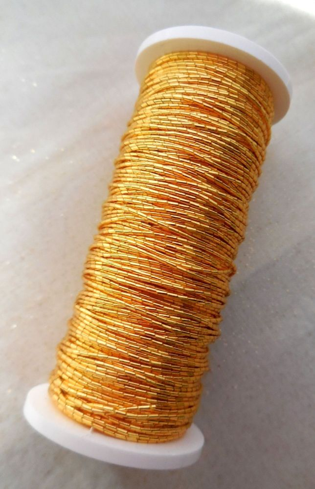 Goldwork Japanese thread No9, gold colour