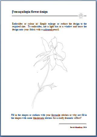 Aquilegia free design image