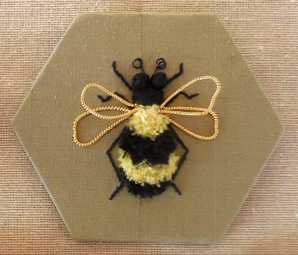 Swarm of bees - stumpwork embroidery kit