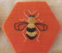 Swarm of bees - goldwork embroidery kit