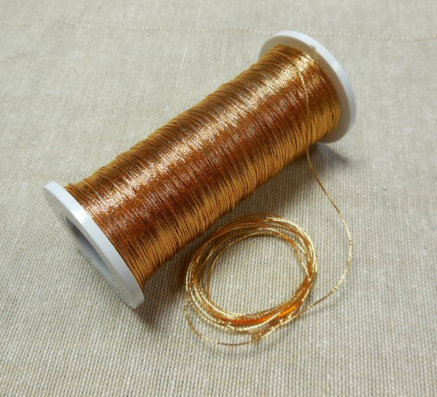 371 thread, extra dark gold colour