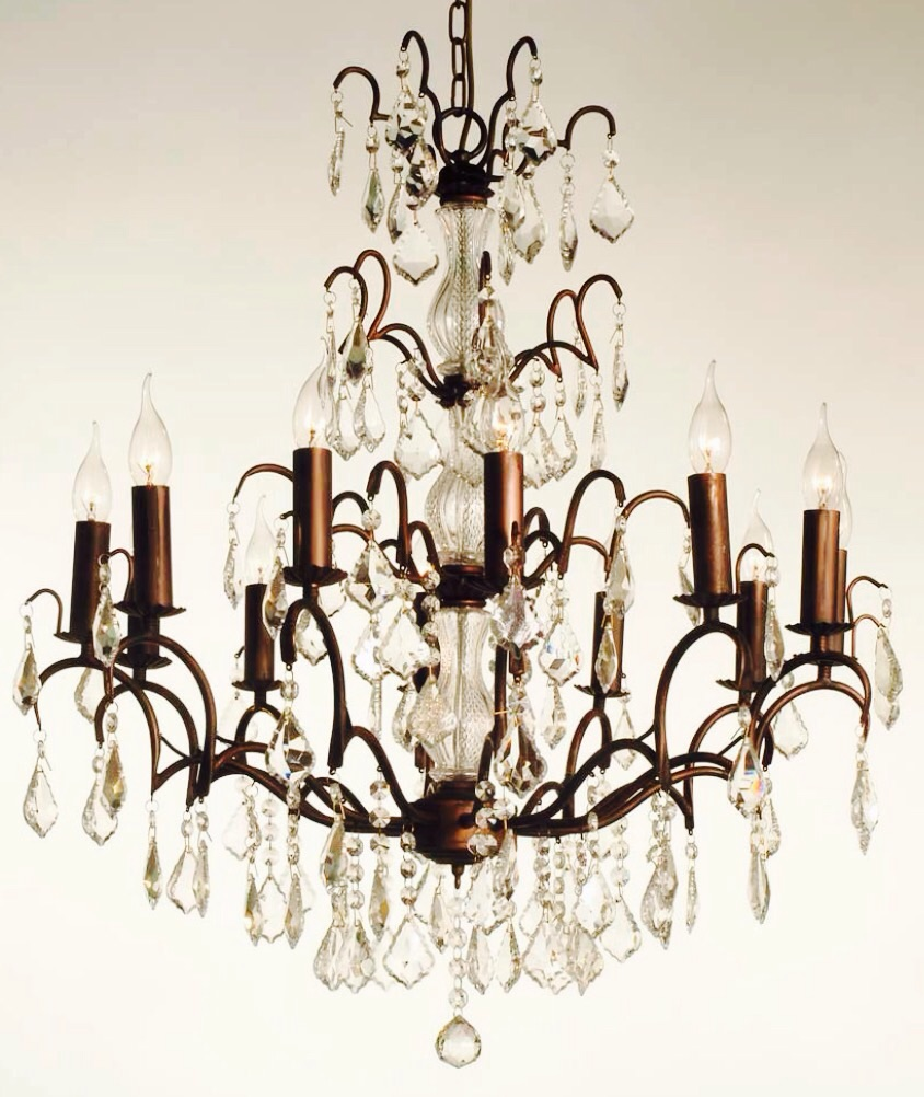 12 Arm Bronze French Style Chandelier code VC64