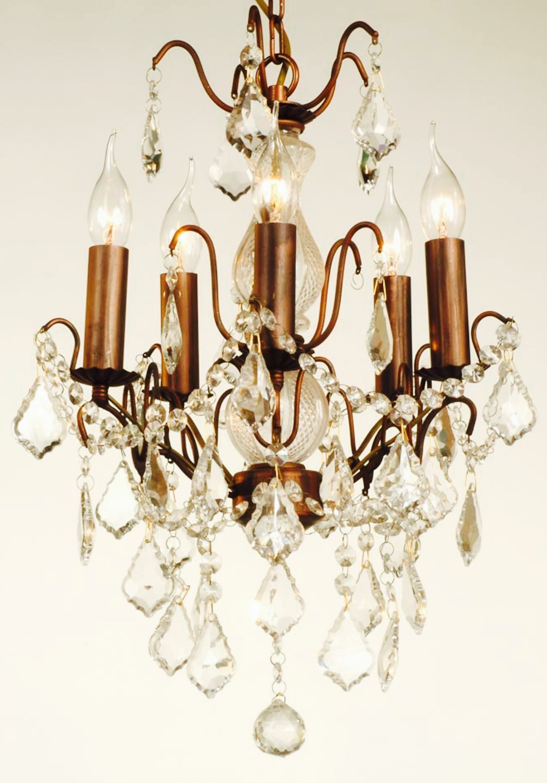 5 Arm Bronze Chandelier code VC9
