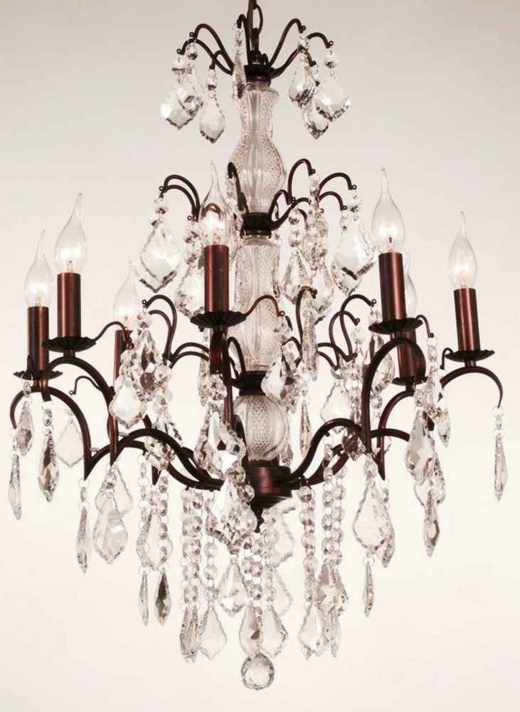 8 Arm Bronze Chandelier Code:VC8A