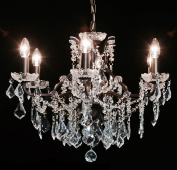 6 Arm Bronze Chandelier code VC109