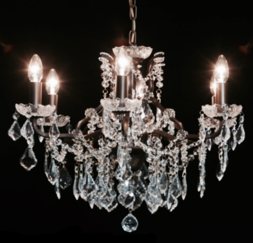 8 Arm Bronze chandelier code VC187