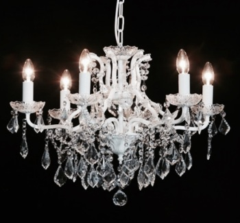 6 Arm Ivory Chandelier code VC108