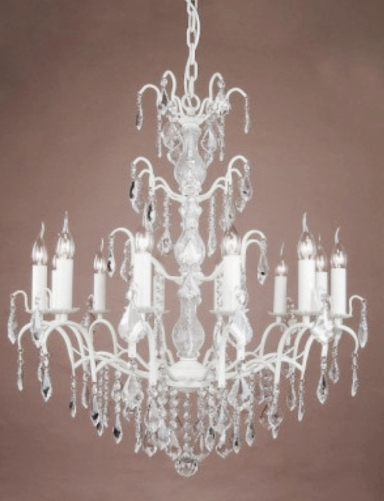12 Arm Ivory Chandelier code VC65
