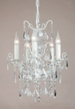 5 Arm Ivory Chandelier code vc10