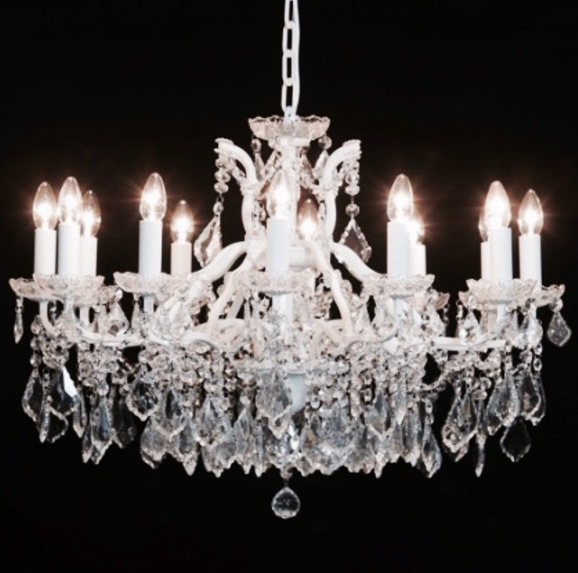 12 Arm Ivory Chandelier code VC98