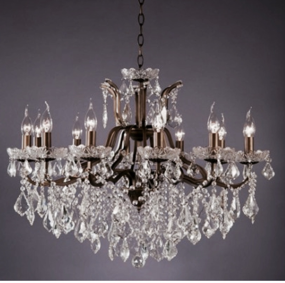 12 Arm Bronze Chandelier Code VC106