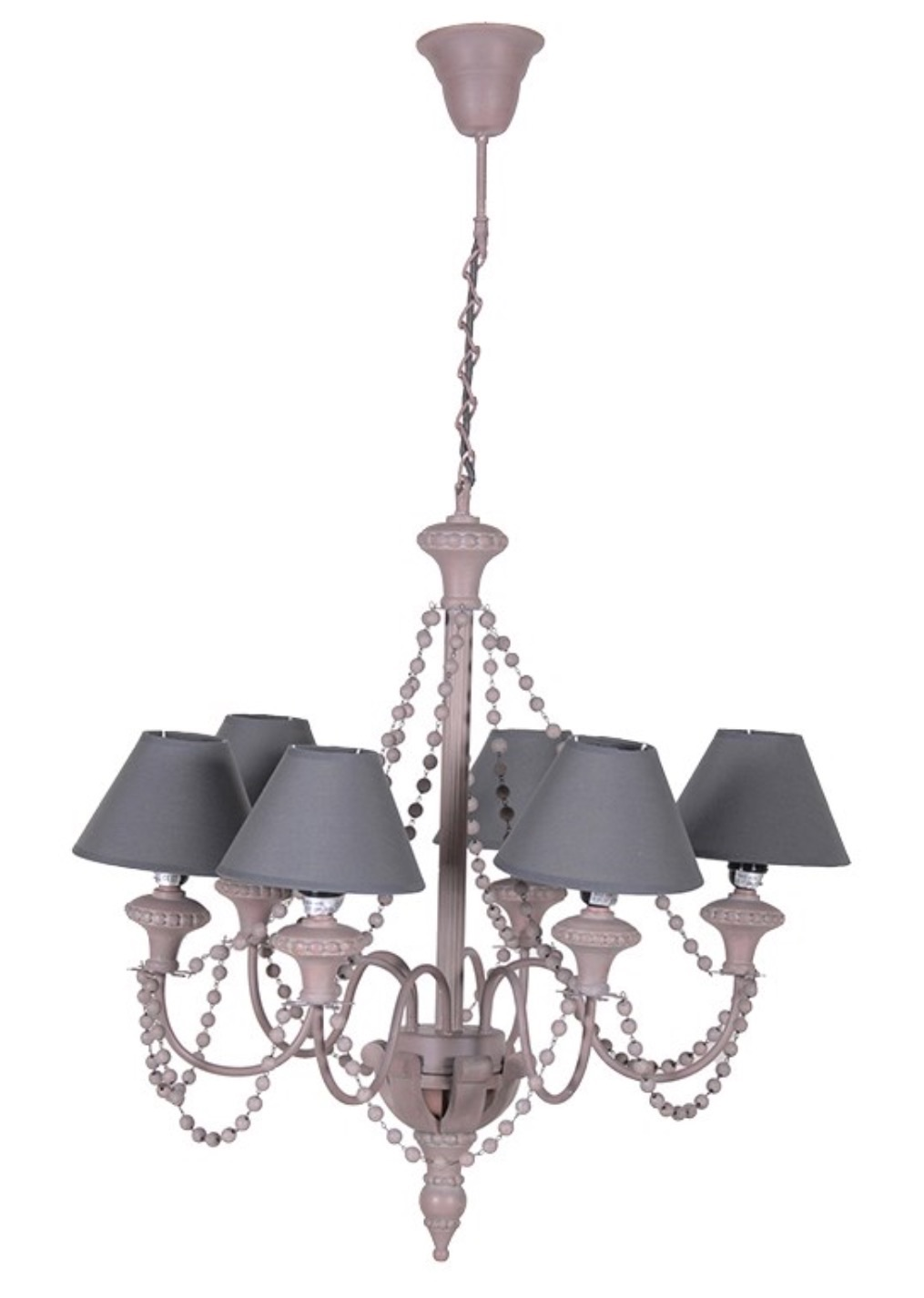 Mauve Beaded Chandelier Code VW062