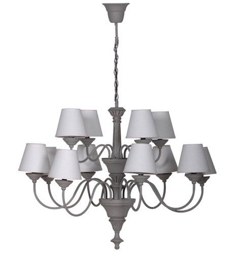 Grey Chandeliery with Ivory Shades Code VW071