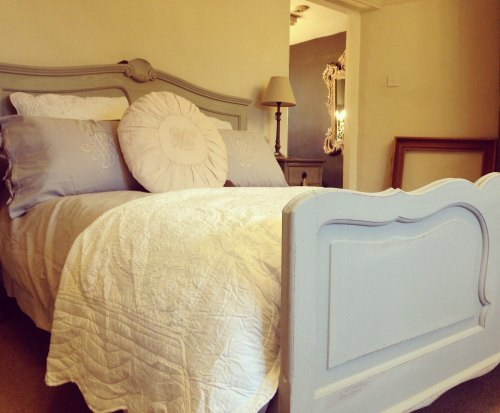 Paris Grey Painted French Bed King Size