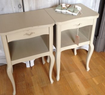 Pair of French Painted Louis XV Bedside Tales