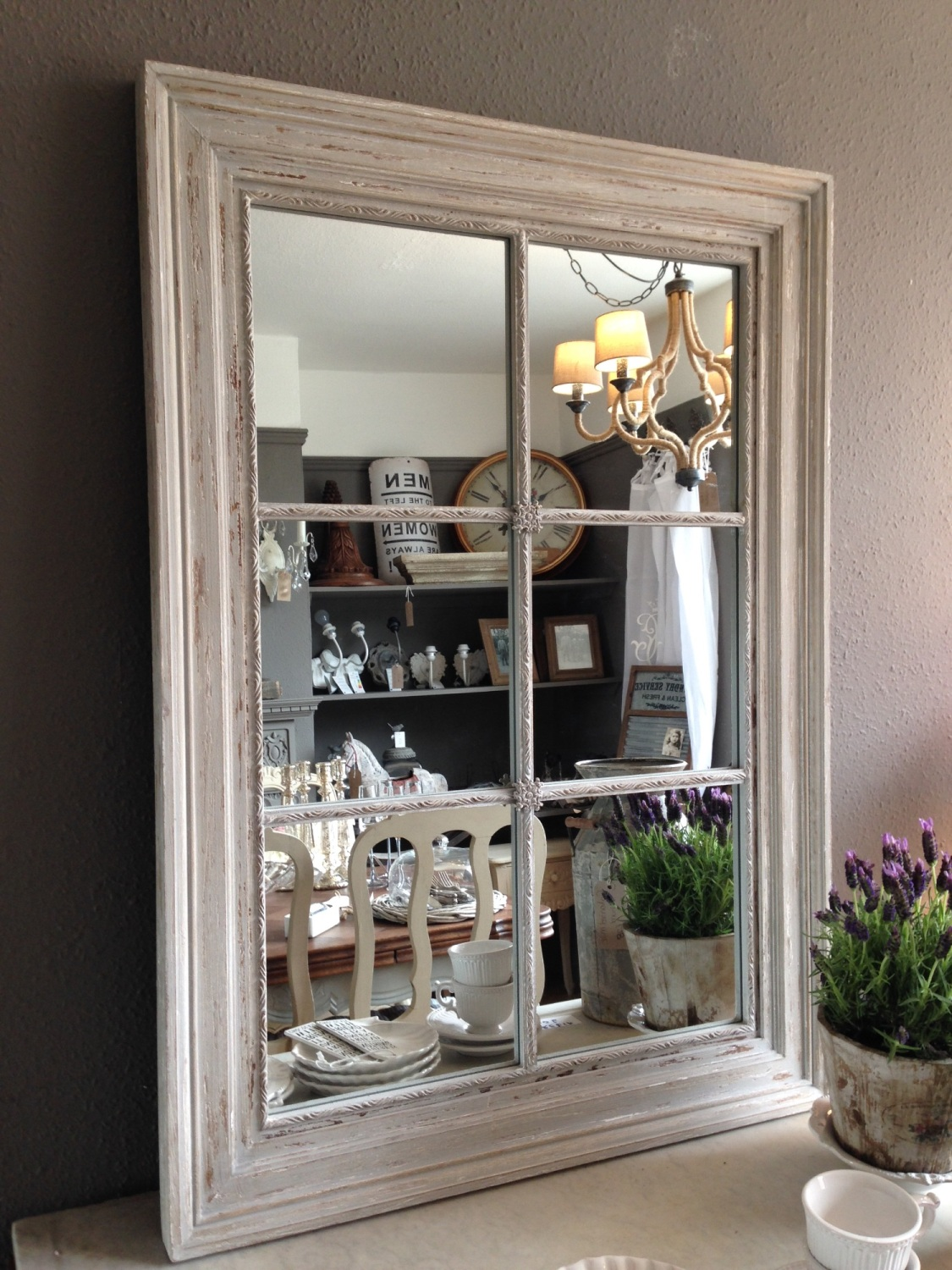 Grey Wooden Ash Window Mirror Code Bbaw