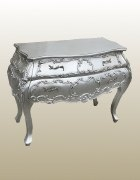 Antique Silver Bow-Fronted Chest