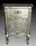 Antique Silver Bedside Cabinet