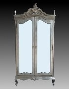 Antique Silver Armoire - Wardrobe