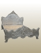 Antique Silver Louis Bed