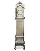 Antique Silver Grandfather Clock