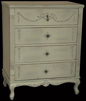 Old Grey Chest Of Drawers