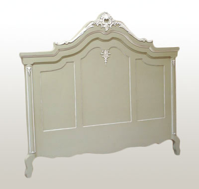 French Grey Painted Headboard