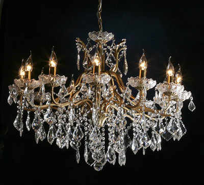 Gold Chandelier 12 Arm VC329