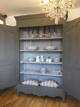 "Super large French Linen Armoire painted in Pure & Original colour ""Mud"""