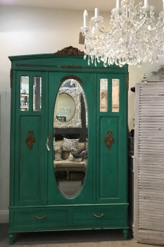 French Antique Armoire painted Florence