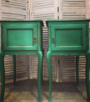 "Pair French painted Cabinets colour is ""Florence"" Chalk Paint"