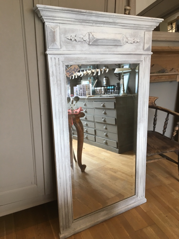 Painted Antique oak French Renaissance Mirror