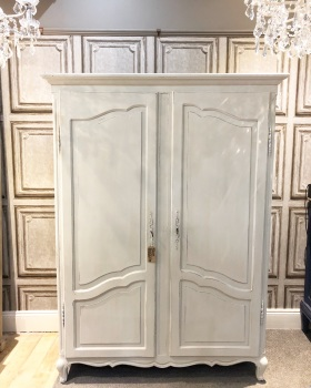Painted French double armoire - wardrobe