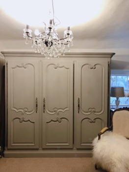 Painted 3 door armoire
