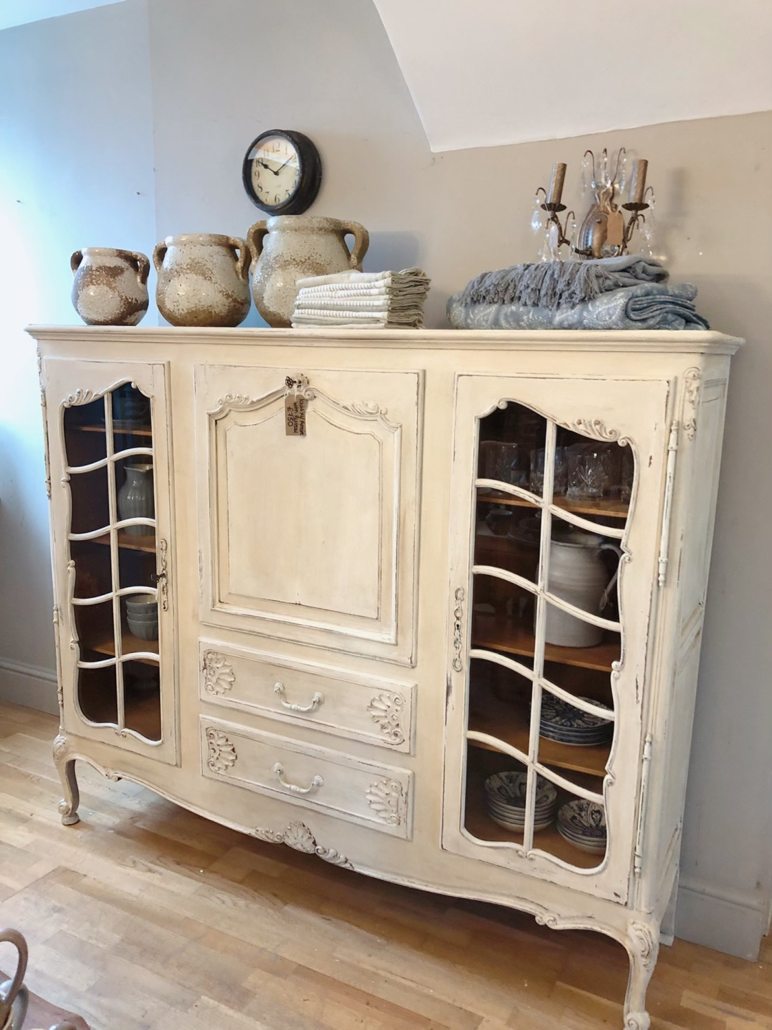 French painted Bibliotheque