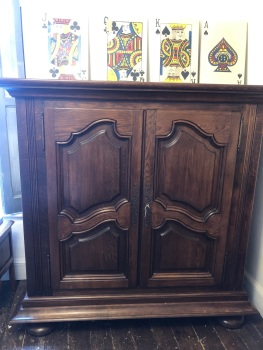 French oak linen cupboard