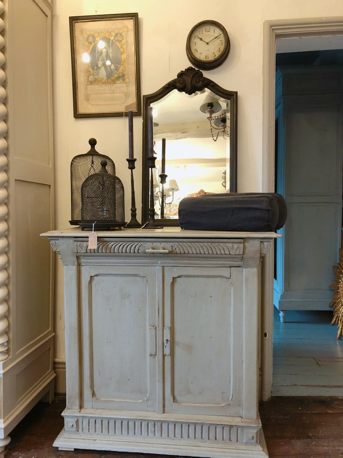 French antique painted cupboard