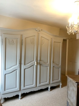 4 door Louis armoire - wardrobe