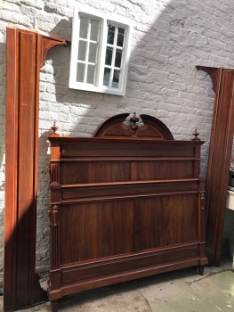 Mahogany French Renaissance Double Bed - can be painted