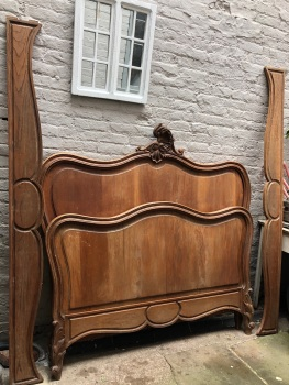 Antique Louis XV double bed - can be painted