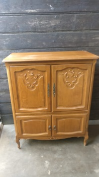 French Louis TV Cabinet with side sliding doors