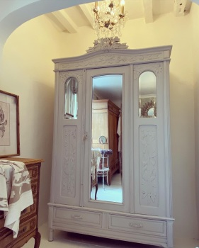 Antique Oak painted armoire