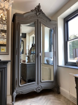 French Louis XV mirrored armoire