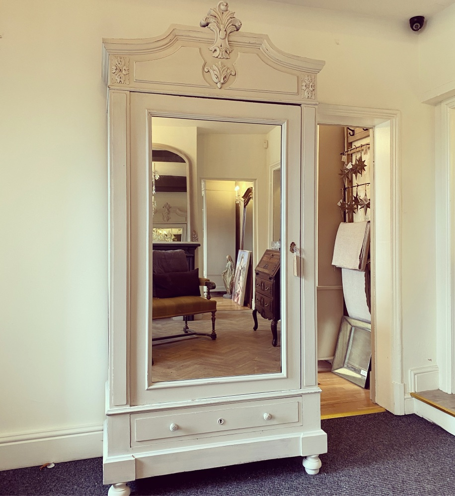 Painted French Linen Armoire
