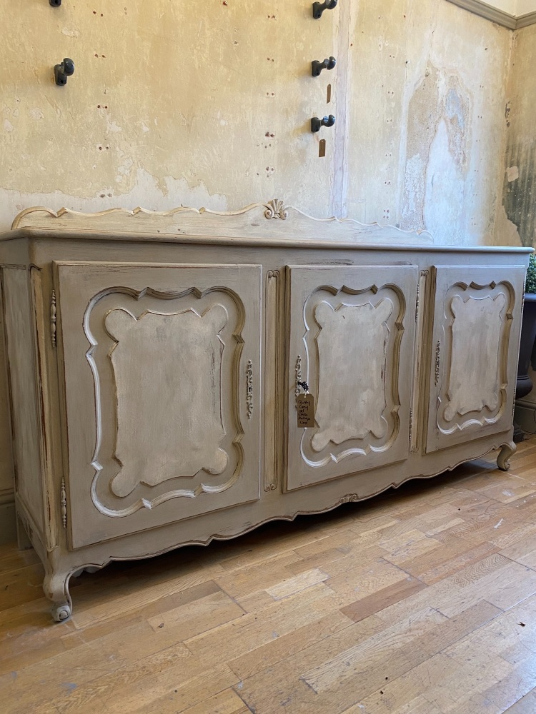 French oak hand painted sideboard buffet