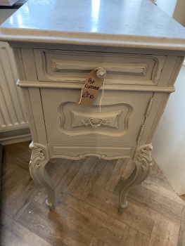 French pot cupboard with marble top